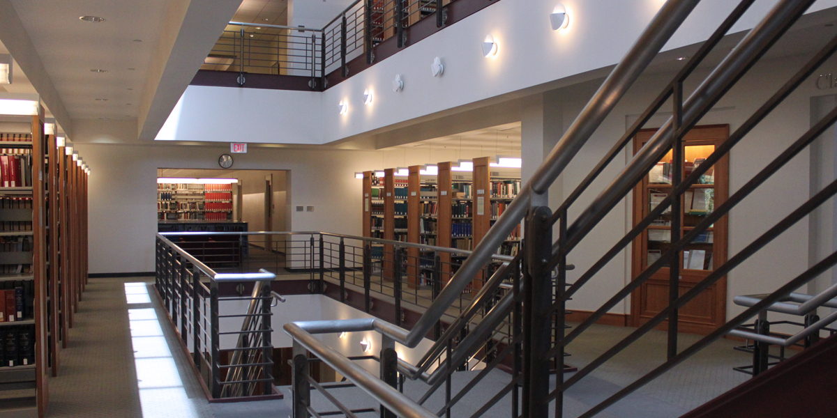 interior of the law library