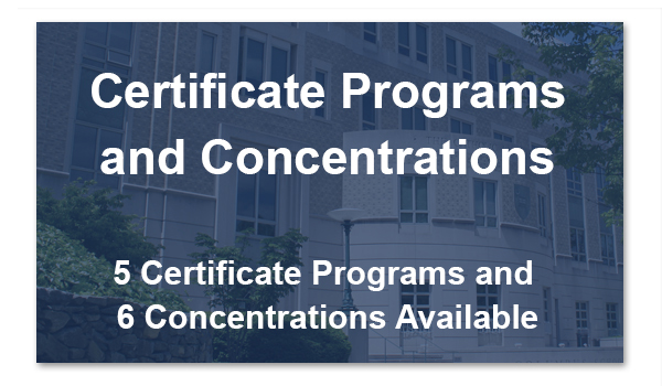 Certificate Programs and Concentrations